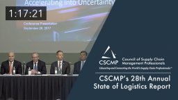 """CSCMP's 28th Annual """"State of Logistics Report"""" presented by Penske Logistics, an EDGE 2017 Session"""
