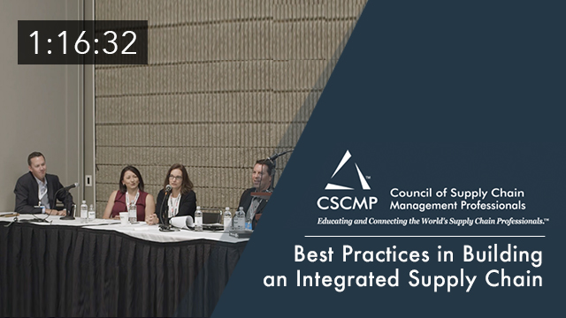 Best Practices in Building an Integrated Supply Chain, an EDGE 2017 Session