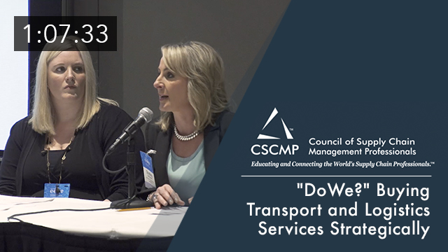 """Do We?"" Buying Transport and Logistics Services Strategically, an EDGE 2017 Session"