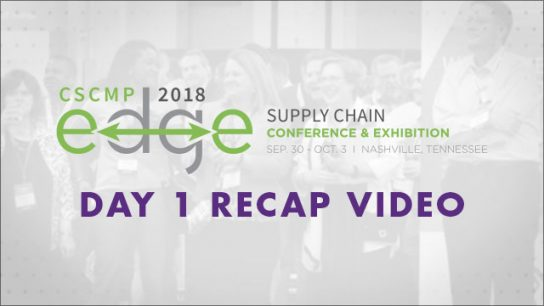 Achieving Educational Goals at Day 1 of CSCMP'S 2018 EDGE