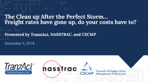 Part 4 of the Perfect Storm Series: The Clean Up After the Perfect Storm… Freight rates have gone up, do your costs have to?