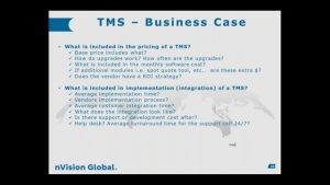 TMS Innovation – Implementing TMS, Benefits and Lessons Learned
