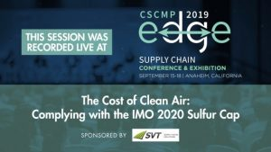 "Protected: EDGE 2019 Mega Session ""The Cost of Clean Air: Complying with the IMO 2020 Sulfur Cap"" – sponsored by SVT"